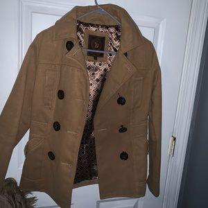 Jackets & Blazers - Tan Pea Coat